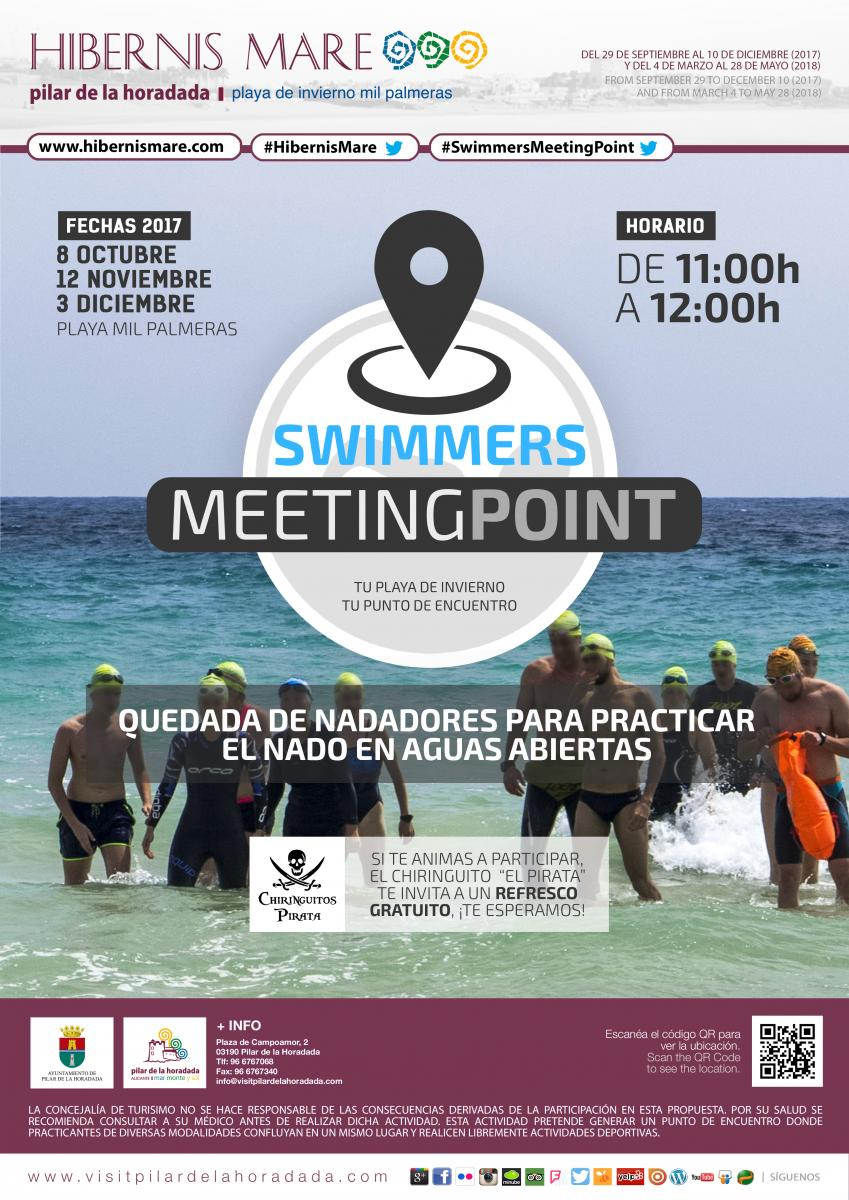 cartel swimmers meeting point hibernis mare mil palmeras pilar de la horadada