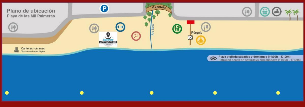 mapa swimmers meeting point