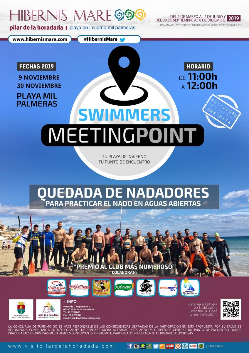 swimmers meeting point hibernis mare mil palmeras pilar de la horadada playa de invierno
