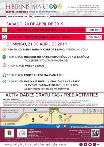 eventos cancelados 20 y 21 de abril